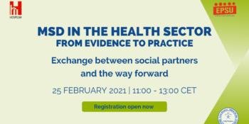 HOSPEEM-EPSU Webinar on MSD in the health sector
